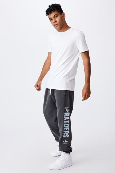 Relaxed Nfl Trackpant, LCN NFL WASHED BLACK/RAIDERS