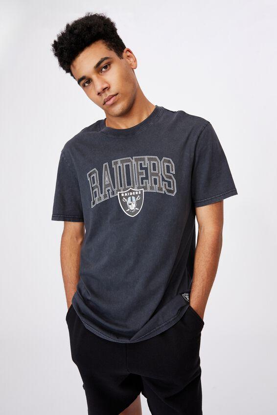 Regular Nfl T Shirt, LCN NFL WASHED BLACK/RAIDERS ARCH