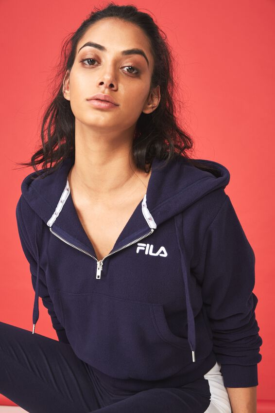 Fila Lcn Qtr Zip Hoodie, EVENING BLUE