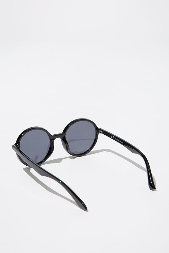 Millenium Round Sunglasses, BLACK/BLACK