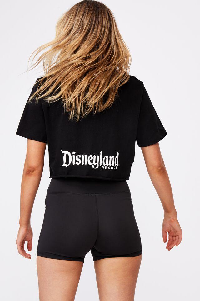 Lcn Raw Edge Graphic T Shirt, LCN DIS BLACK/DISNEYLAND CASTLE