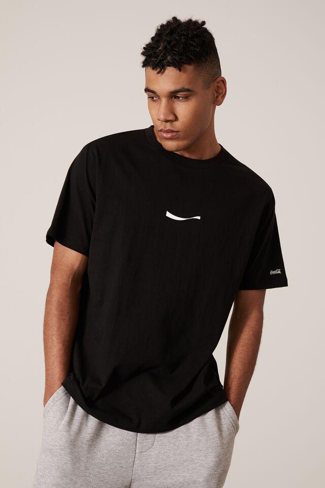 Regular Pop Culture T Shirt, LCN COK BLACK/VERT LOGO