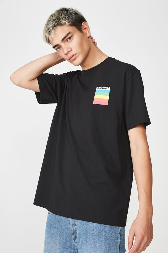 Polaroid Lcn Short Sleeve T Shirt, BLACK/POLAROID BOX