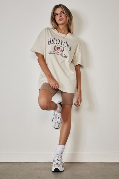 Lcn Super Relaxed Nfl Graphic Tee, LCN NFL IVORY/BROWNS