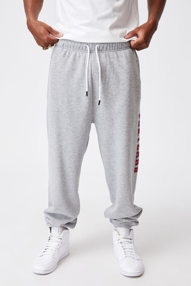 Relaxed Graphic Trackpant, GREY MARLE/PORTLAND
