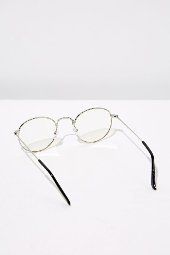 Splendour Round Sunglasses, S.SIL_CLR