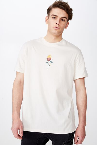 Regular Graphic T Shirt, IVORY/NOT ME