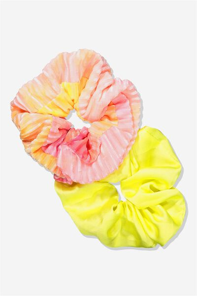 Planet Factorie Scrunchies, TIE DYE_MAUVE