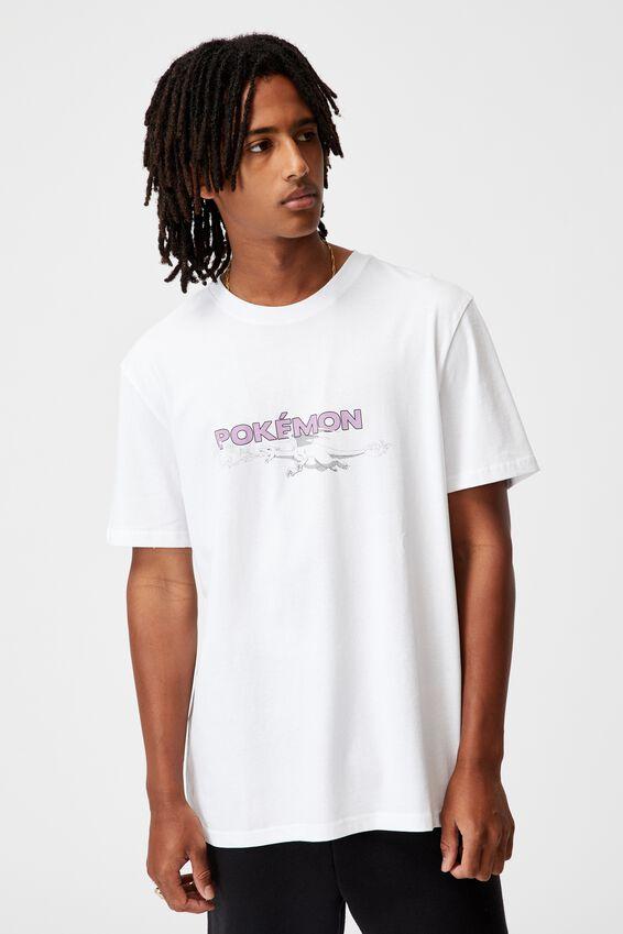 Regular Gaming T Shirt, LCN POK WHITE/POKEMON