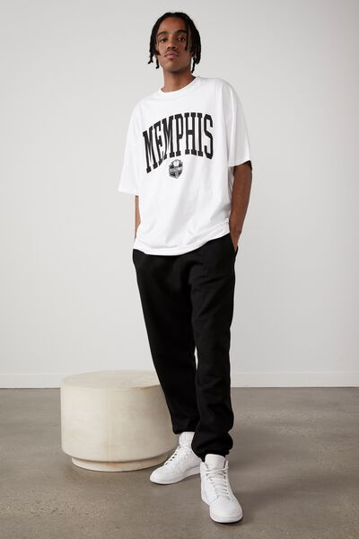 Basic Relaxed Trackpant, BLACK