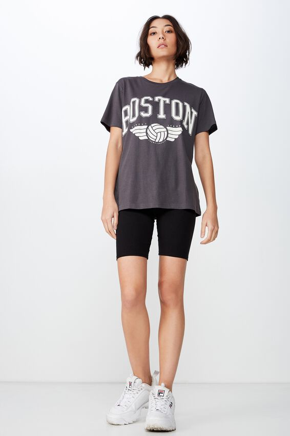 Relaxed Graphic T Shirt, ASPHALT/BOSTON