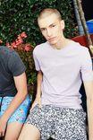 Slim Graphic T Shirt, LAVENDER/FALSE