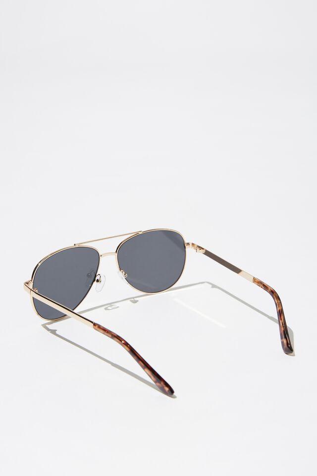 Metal Aviator Sunglasses, GOLD_SMK