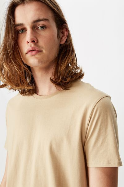 The Curved Tall Tee, ALMOND