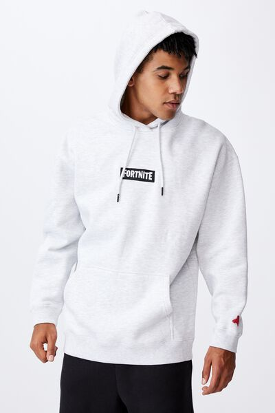 Oversized Gaming Hoodie, LCN FOR SILVER MARLE/FORTNITE