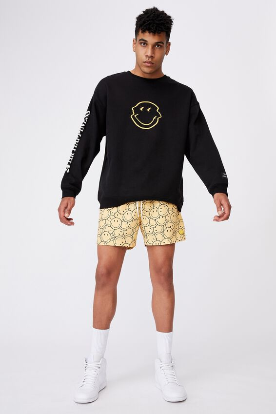 Smiley Resort Short, LCN SMI CHALK YELLOW SMILEY