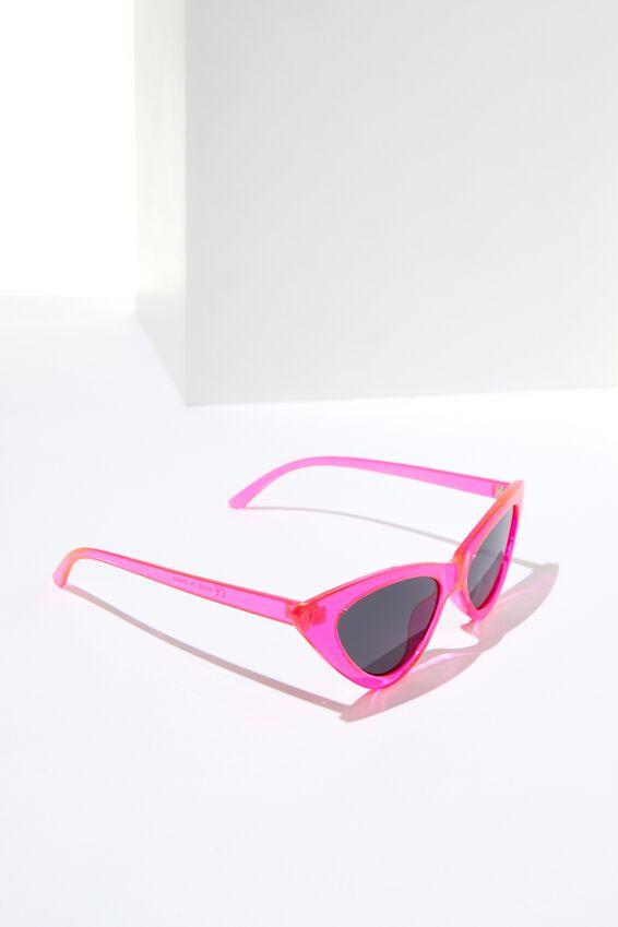 Zarah Cateye Sunglasses, NEON PINK