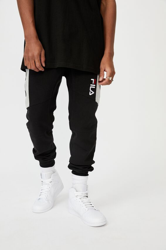 Fila Lcn Tech Panelled Trackpant, BLACK/GREY MARLE