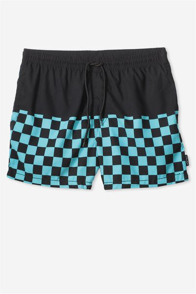Jose Poolboy Short 2, BLACK BLUE CHECKER