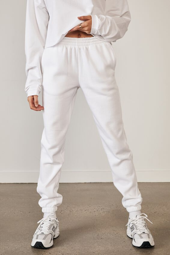 Classic Trackpant, WHITE
