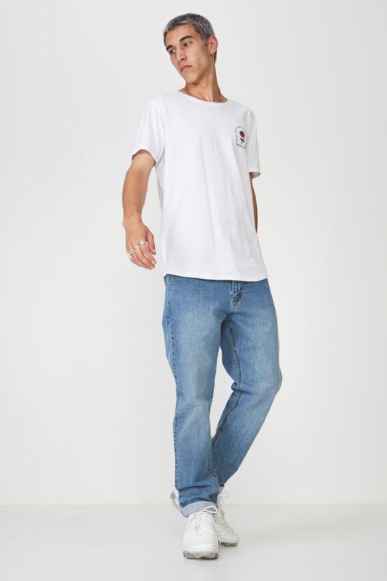 Denim Straight Leg Stretch Jean, VINTAGE BLUE