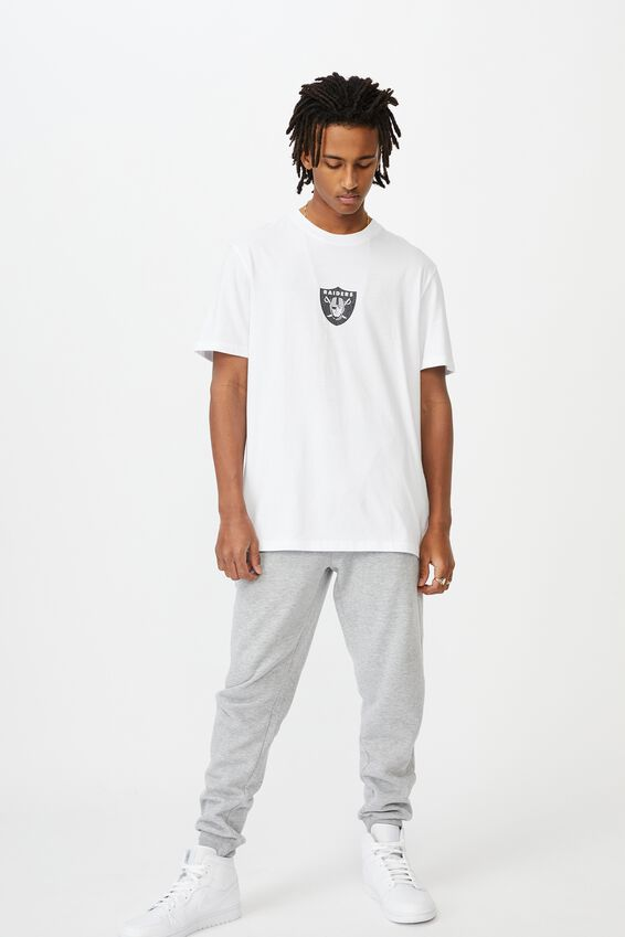 Regular License T Shirt, LCN NFL WHITE/RAIDERS FRONT