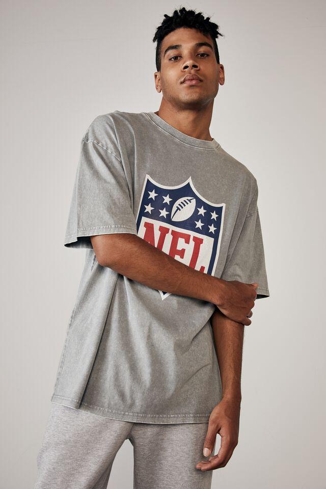 Relaxed Nfl T Shirt, LCN NFL WASHED GREY/NFL LOGO
