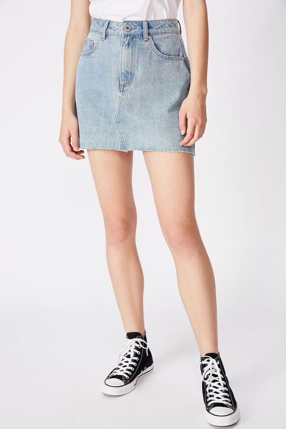 Classic Denim Skirt, THRIFT BLUE