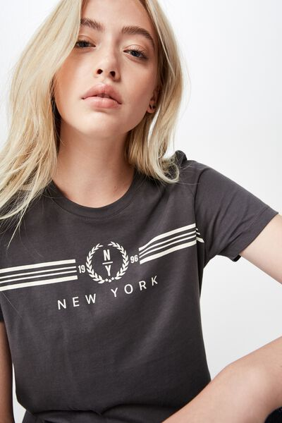Basic Graphic T Shirt, ASPHALT/NEW YORK