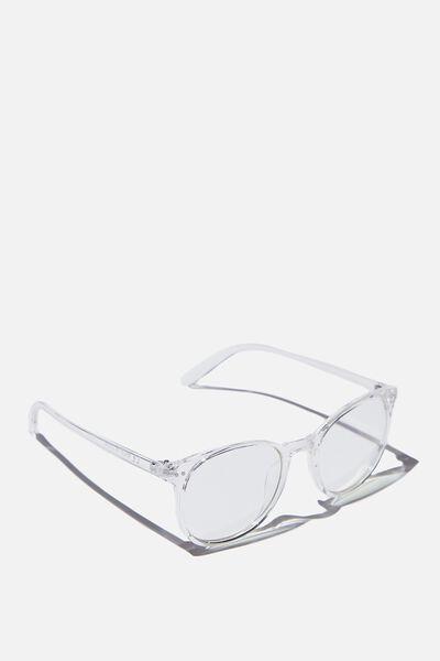 Blue Light Reader Glasses, CLEAR B'LIGHT