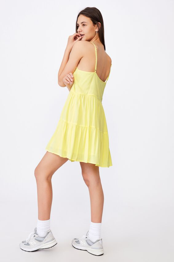 Button Tiered Dress, LIMELIGHT