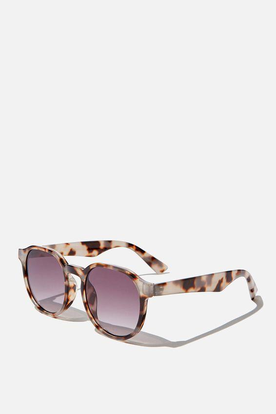 Millenium Preppy Sunglasses, NATURAL TORT