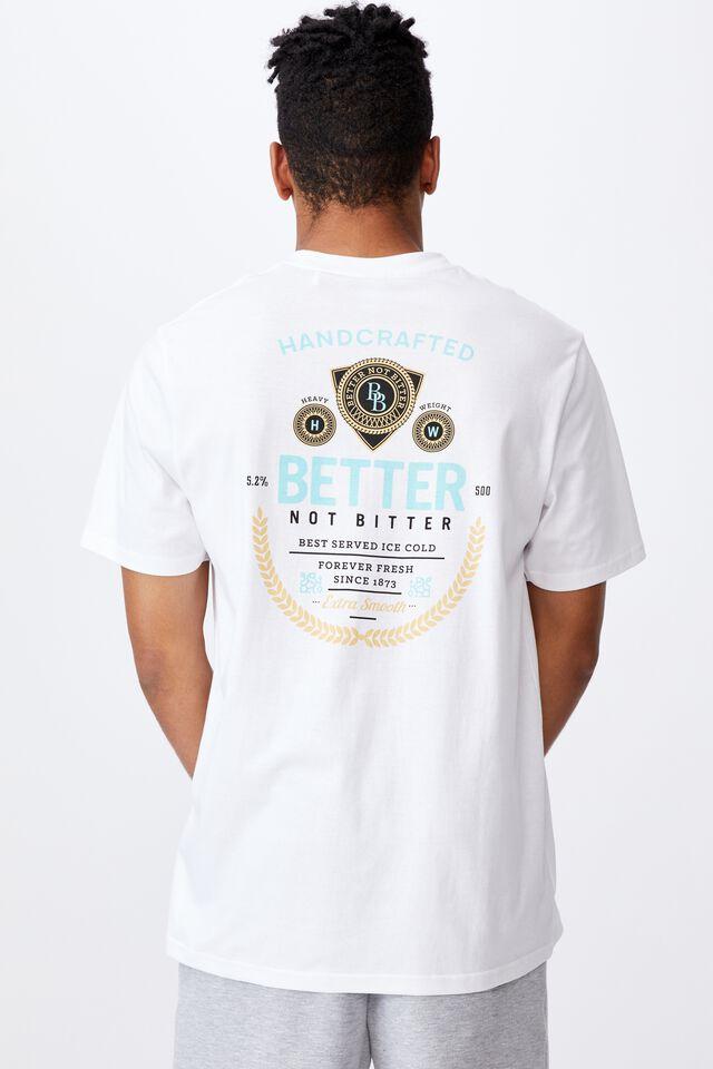 Regular Graphic T Shirt, WHITE/BETTER NOT BITTER