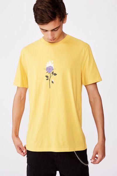 Regular Graphic T Shirt, MIMOSA/FLAME ROSE