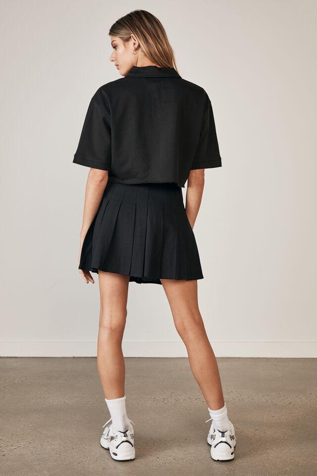 Pleated Skirt, BLACK