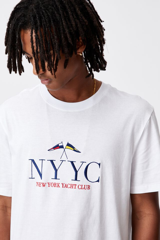 Regular Graphic T Shirt, WHITE/NYYC
