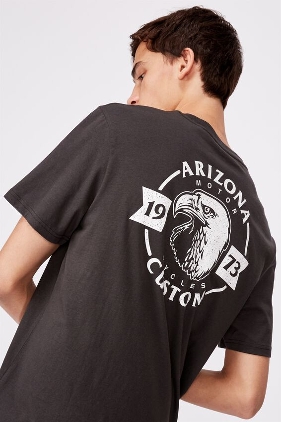 Regular Graphic Pocket T Shirt, PIRATE BLACK/ARIZONA CUSTOM
