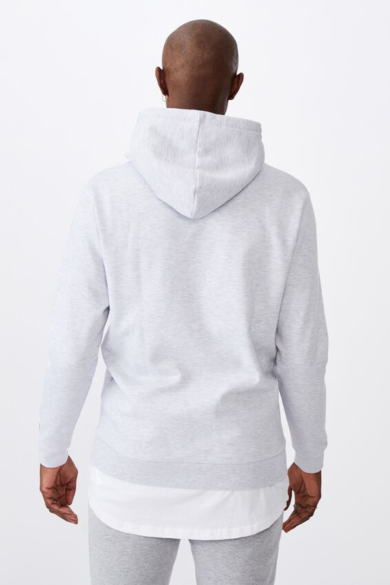License Graphic Hoodie, LCN NAS SILVER MARLE/NASA