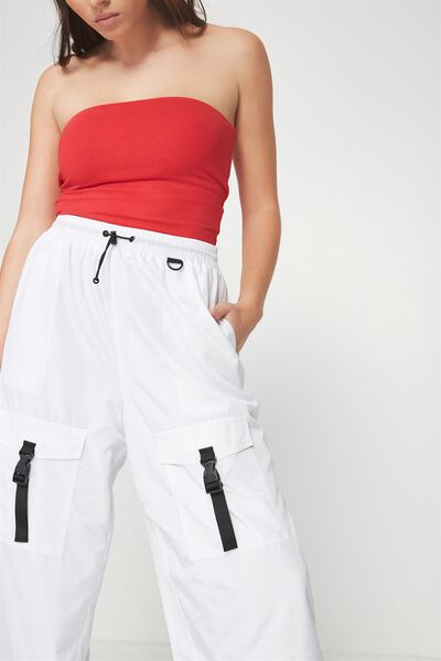 The Woven Toggle Pant, WHITE