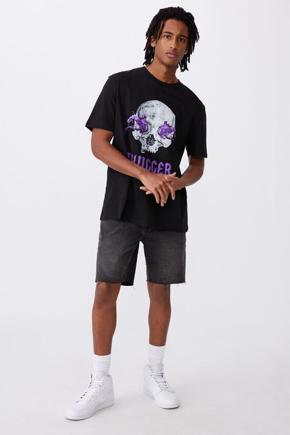 Regular License T Shirt, LCN MT BLACK/THUGGER