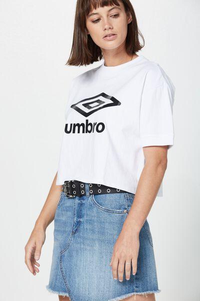 Umbro Branded Tee, UMBRO WHITE GRAPHIC