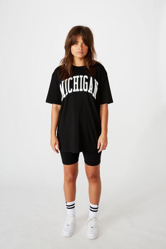 Classic Graphic T Shirt, BLACK/MICHIGAN