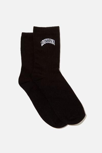 The Original Sock, BLACK/LOUISIANA
