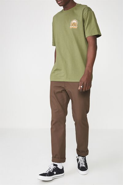Straight Leg Work Pants, CHOCOLATE BROWN