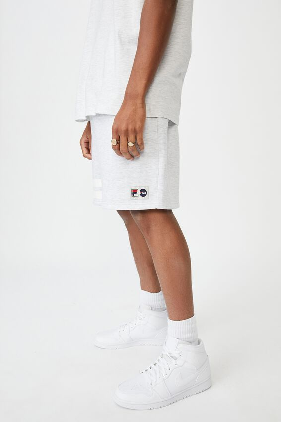 Lcn Fila Fleece Short, SILVER MARLE/COLLEGIATE