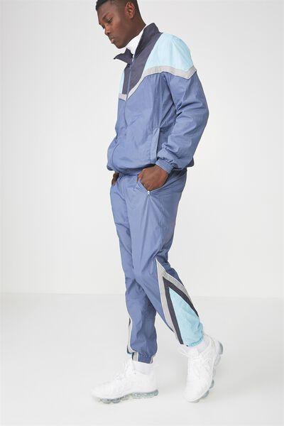 Shell Track Pants, BLUE SPLICE
