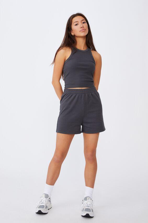 Hype Fleece Short, ASPHALT