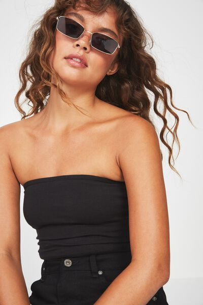 Basic Tube Bandeau, BLACK