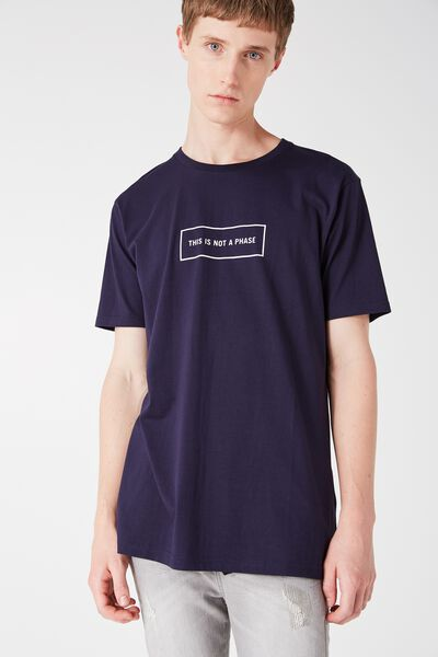 Tagged Tee, BLUE DEPTHS/NOT A PHASE