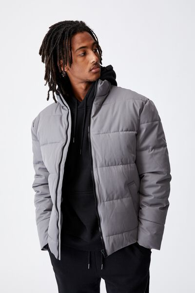 Puffer Jacket, CHARCOAL